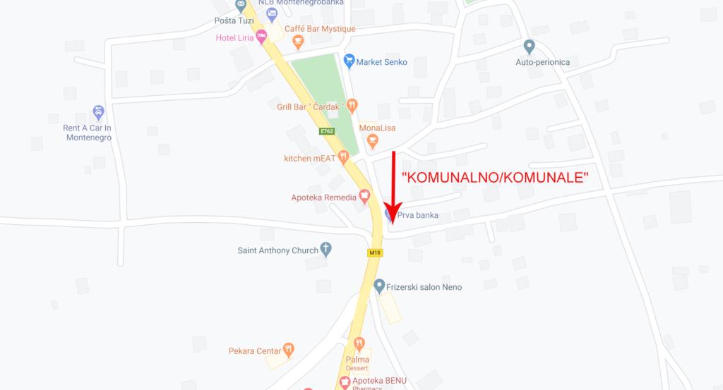 """Map - """"KOMUNALNO/KOMUNALE"""""""